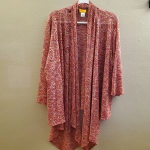 Ruby Rd Open Front Knit Cardigan Plus Size 3X